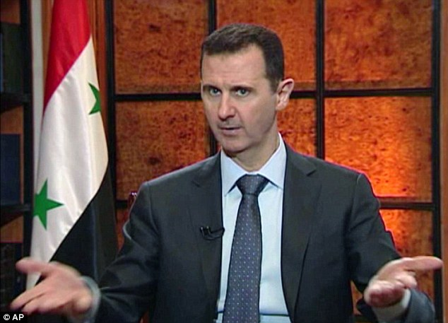 Holding firm: President Bashar Assad has accused the West of backing rebels linked to al-Qaida-linked during his country's civil war