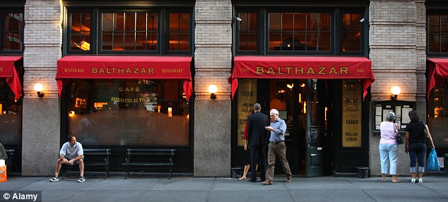 Upscale: The couple were regulars at the posh French restaurant Balthazar, while Felicitas del Carmen Villanueva Garnica claims she often had only milk and bread to eat