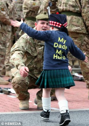 Image result for scottish soldiers homecoming images
