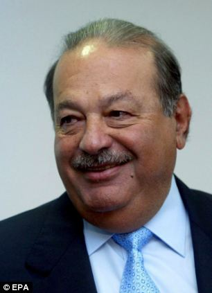 Mexican telecom tycoon Carlos Slim Helu has topped the Forbes magazine list of the world's richest billionaires