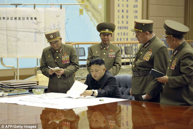 I'm in charge: The report, from underground sources in the country, says Kim Jong-ll has taken on a more authoritarian tone of late