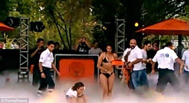Party gone awry: The event held in the Mexican city of Leon was hosted by the German alcoholic beverage company Jagermeister