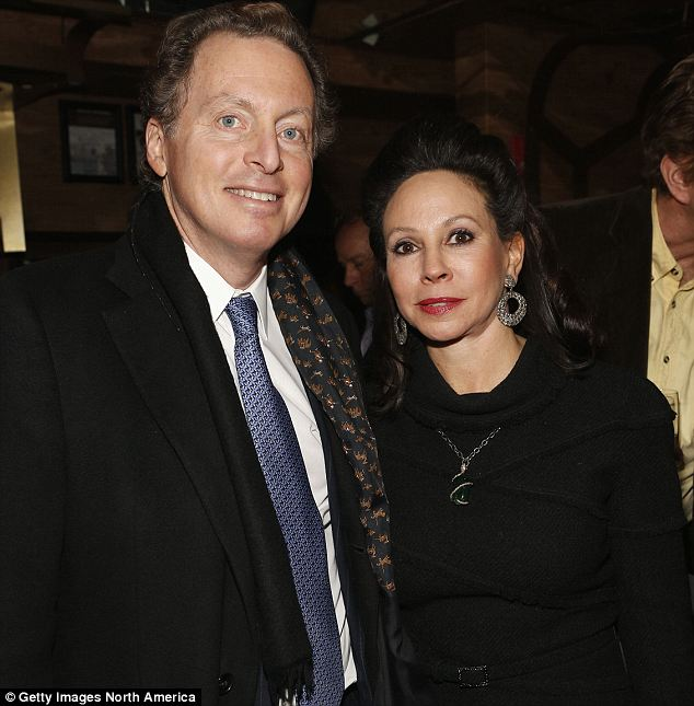Family drama: James Cohen, seen here with his wife, is battling niece Samantha Perelman over millions she claims he cheated her out of coercing his late father to change his will three times. Cohen denies the claim