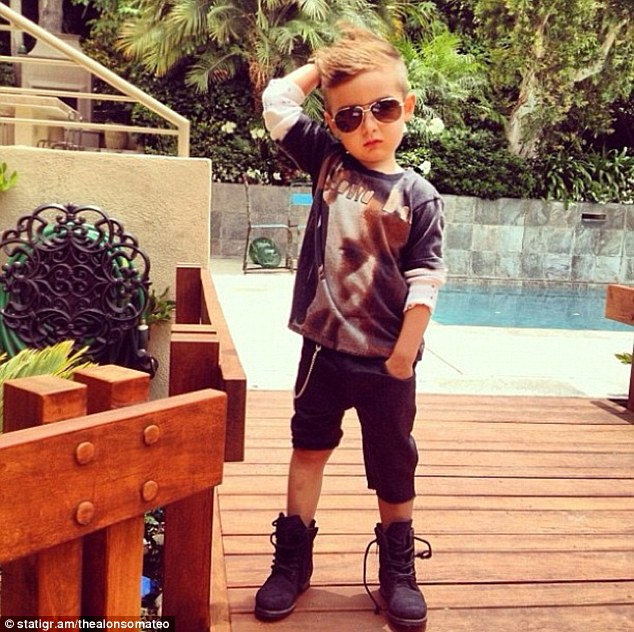 Alonso loves his Ray-Ban aviators, although the five-year-old sometimes mixes it up with shades by Dior or Tom Ford