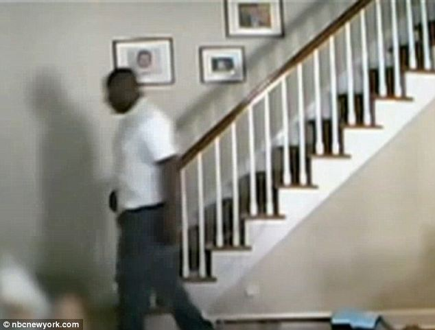 Loose: The thief shoved the woman down the basement stairs and made off with an unknown amount of jewelry. He remains at large and police think he's done this before