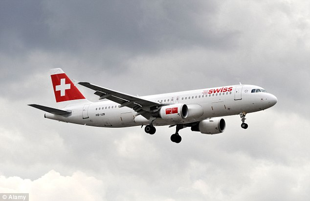 Investigation: It is not known whether the cash was stolen from the Swissair jet (stock image) before it departed from its original destination or upon landing at JFK