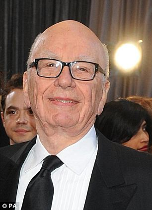 Rupert Murdoch (right) is the highest-paid current executive as he made $73.9million in the last year
