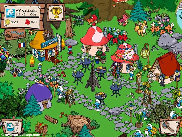 Berried alive: In the free Smurfs Village game, players may purchase 'Smurfberries' for enhanced gameplay. One 8-year-old spent $1,400 dollars on the imaginary berries