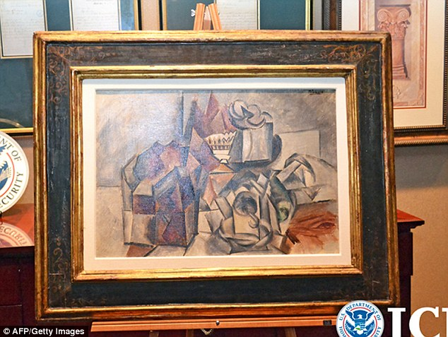 Seized: The Picasso, worth $11.5 million is being held in New York on behalf of the Italian government