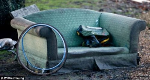 Police said the 'sex sofa' wasn't even discreetly hidden away - it was on a street kerb (File picture)