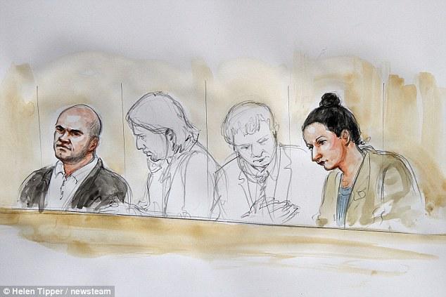Hearings: A file sketch of Magdelena Luczak (right) and Mariusz Krezolek (left) at Birmingham Crown Court