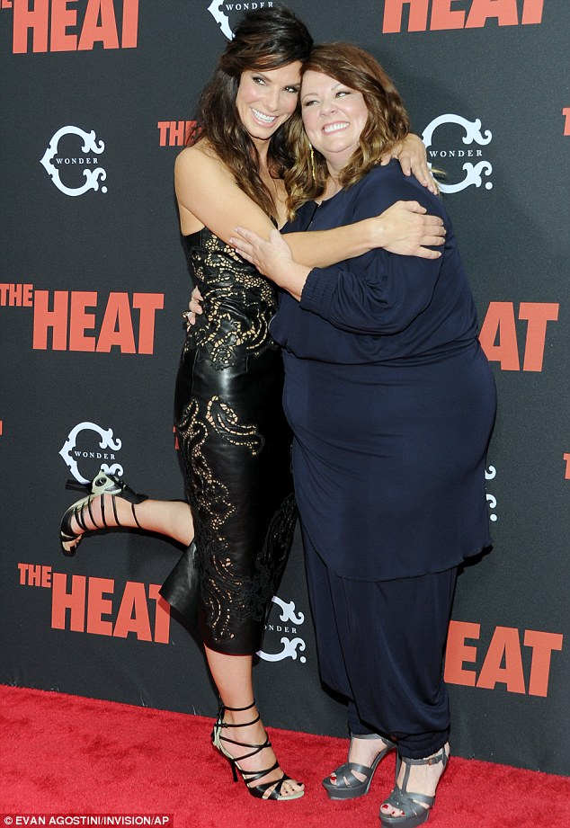 New movie: Sandra is currently promoting her new movie The Heat in which she stars in alongside Bridesmaids star Melissa McCarthy