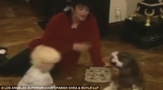 Behind the scenes: The moving images were shown as Prince Michael Jackson became the first member of the Jackson family to give live testimony in the wrongful death lawsuit against concert promoter AEG