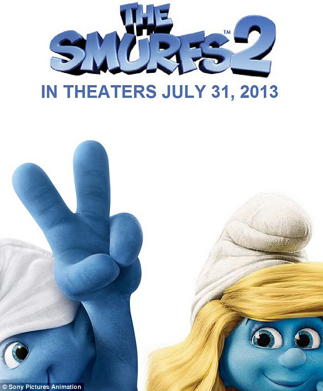 Fun for the family! The pop star's song Ooh La La will be featured in The Smurfs 2, which hits U.S. theatres on July 31