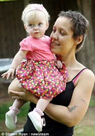 Complaint: Lynette Wallace said the way she was treated while in police custody triggered the premature birth of daughter Charna (pictured)