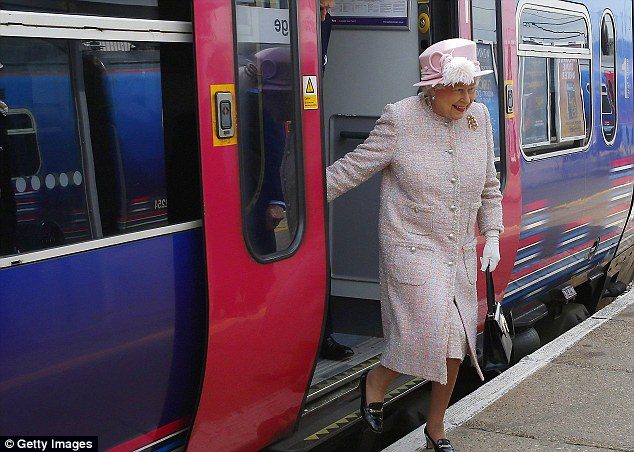 Royal approval: The Queen used a scheduled train service when she visited Cambridge