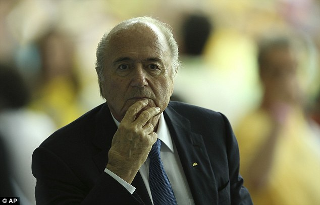Familiar face: Sepp Blatter was at the Maracana to watch as Brazil brought Spain to their knees