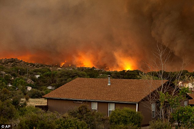 Aid: The Red Cross has set up a shelter at the Yavapai College in Prescott, Arizona