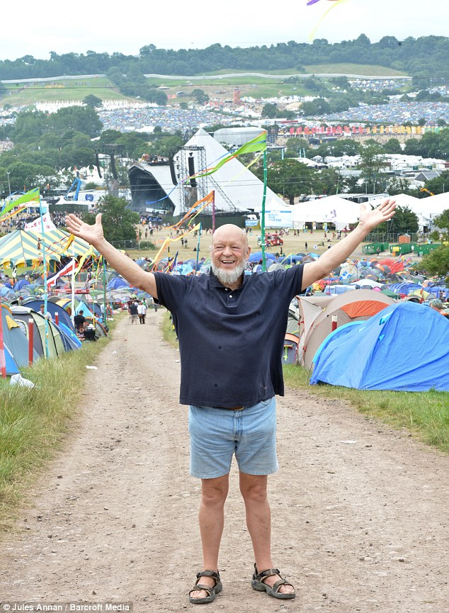 Organiser Michael Eavis said Prince Harry was 'great' and stayed out until 4am