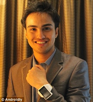 Chief Marketing Officer for Androidly, Siddhant Vats, pictured, is just 17 years old.