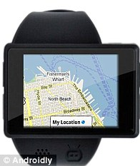 A built-in GPS unit lets wearers use Google Maps on their Androidly watches