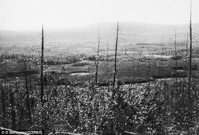 Tunguska event: Siberia was struck by falling meteor pieces on July 30, 1908. The energy of the explosion knocked over roughly 80 million trees