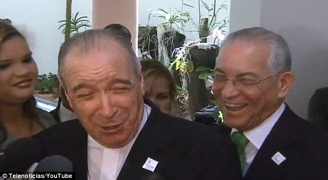 Cardinal Nicolas de Jesus Lopez Rodriguez answered a question about agriculture by laughing: 'We went from faggots and lesbians to chickens, now?'