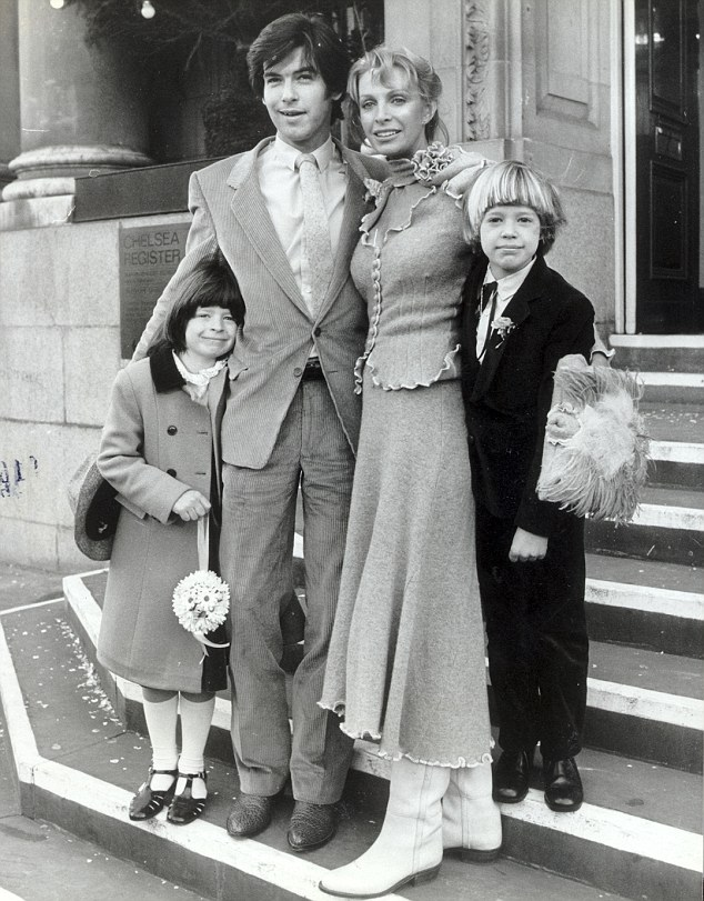 Doting father: Charlotte was nine years old when her mother Cassandra married Pierce at Chelsea registry office in 1980