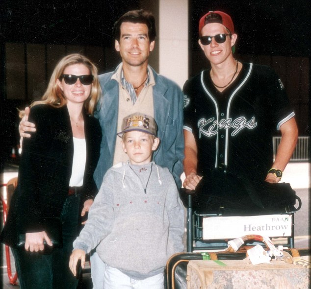 Support: Pierce, Charlotte, Sean and Christopher in 1991 following Cassandra's death