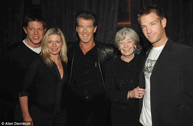 Sharing success: Charlotte with her brothers, father and grandmother May at The Matador after-party in London in 2006
