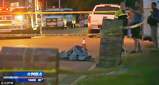 Horror in Texas: A little girl's body was found bound and naked under this plastic tarp in Saginaw, Texas, outside Fort Worth on Monday night