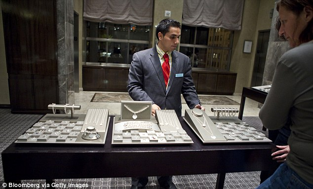 Diamonds are forever: A former VP at Tiffany has been accused of stealing $1million in bracelets and rings which were found missing when an inventory was taken (stock image)