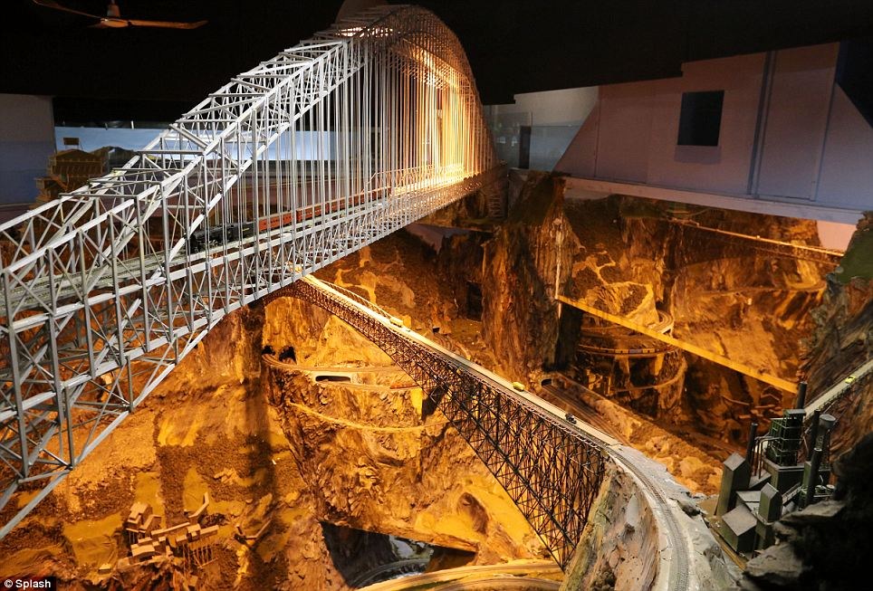 Ex-SPAN-sive: Forty-foot bridges span 30-foot canyons in Northlandz