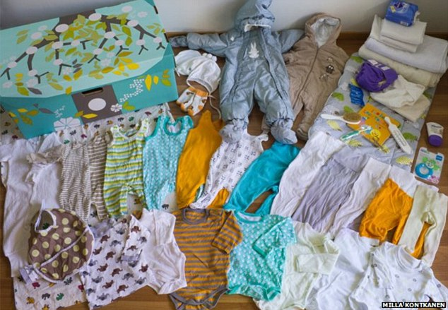 The Finnish government has sent a baby box which is given to all expectant mothers in Finland to the duke and duchess