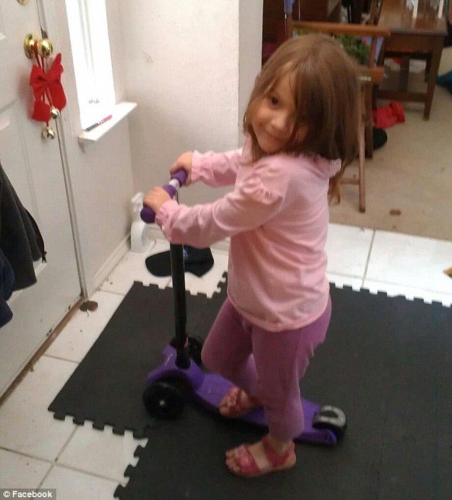 Neighbors said the often saw the little girl riding her scooter up and down her street in the quiet neighborhood in Saginaw