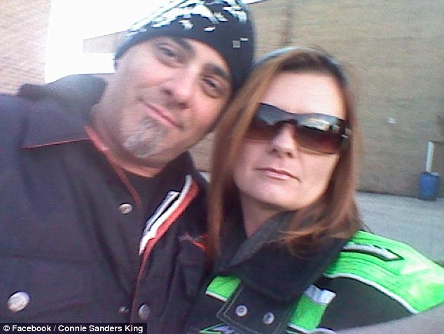 Mastermind: Connie Sanders King, 37, was arrested for orchestrating the fatal shooting of her fiance Thomas Colucci, pictured here with her, by her estranged husband