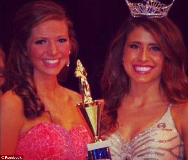 Beauty queen: Anna (left) is putting her Miss America dreams on hold to pursue a boxing career