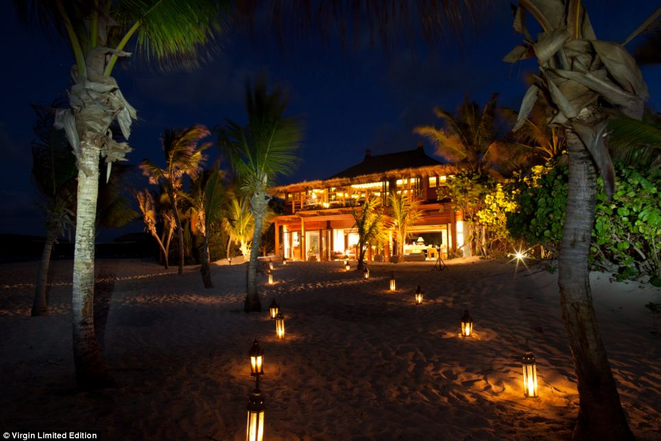 Romantic: For even more privacy, guests can choose to stay in the secluded beach house on the 74-acre island