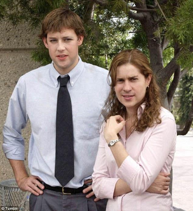 John Krasinski and Jenna Fischer from NBC's The Office get the full treatment