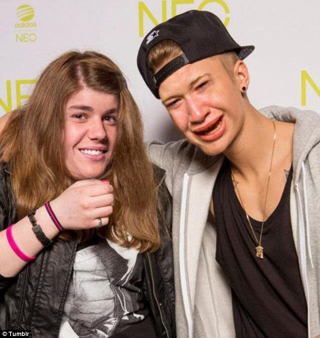 It looks like this fan has a case of Bieber Fever after being morphed into her idol Justin