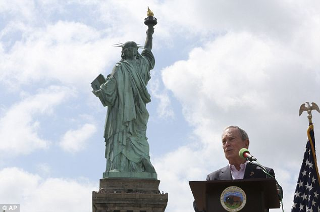 Wise words: Mayor Michael Bloomberg speaks at the reopening ceremony Thursday morning