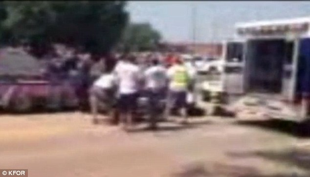 Horrified onlookers watched as emergency medical crews tried in vain to revive the young boy