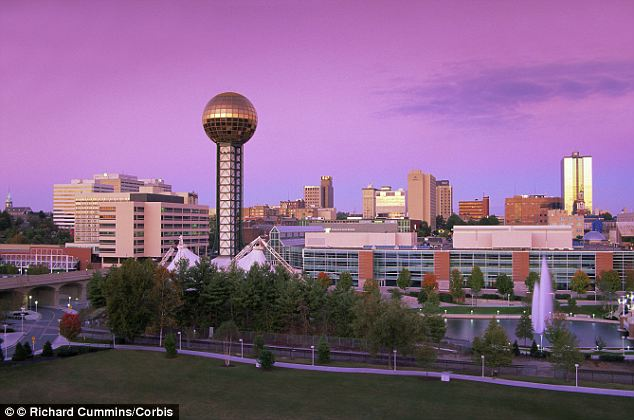 Winner: Knoxville, Tennessee, is voted the most patriotic city in the U.S by social media website, Foursquare