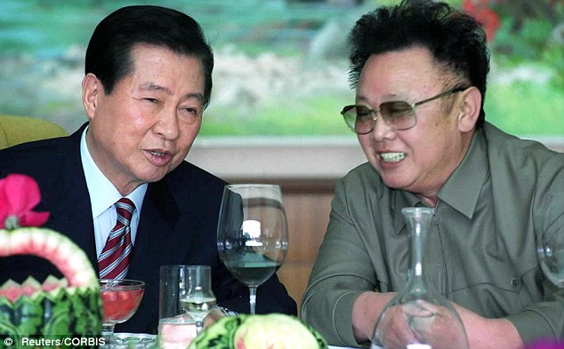 North Korean leader Kim Jong-il (R) was reportedly the biggest single customer of Hennessy cognac. The late leader is pictured in 2000 with then South Korean President Kim Dae-jung
