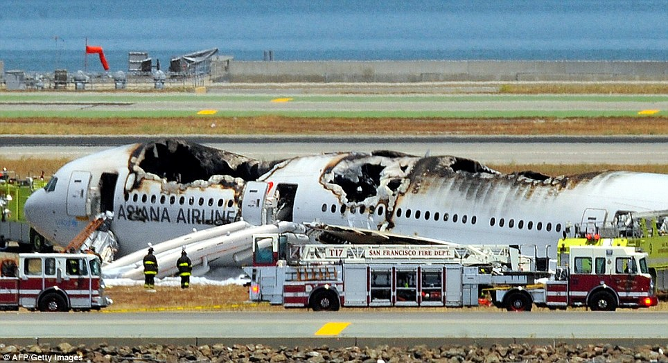 Fatal crash: At least two people have been confirmed dead in the crash at San Francisco International Airport this morning, according to local reports
