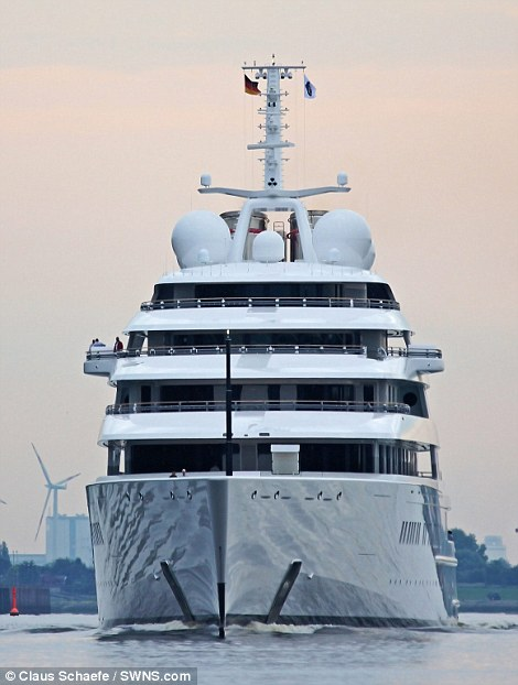 Worlds Largest Private Yacht Azzam Takes To The Sea After 400m Construction Project Daily