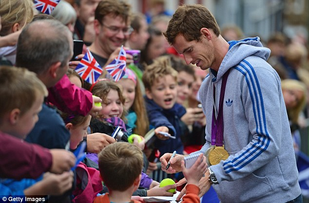 The tennis star returned to Dunblane last year after he won the U.S. Open and his gold medal in the London 2012 Olympic Games