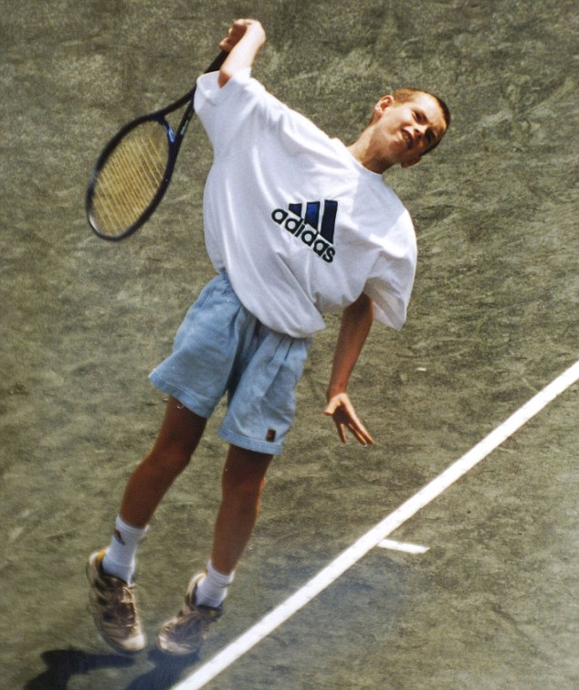 Rising star: The tennis-mad boy who made history becoming the first British man to win Wimbledon since 1936