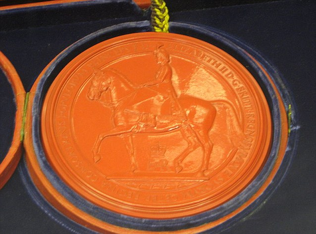 The Great Seal of the Relm, which makes the bestowed title official, is an ancient seal that is used to symbolise the Sovereign's approval of important state documents