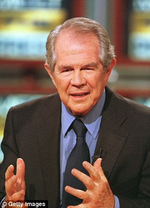 Influential: Christian Coalition President Pat Robertson appears on NBC's 'Meet the Press' May 7th, 2000 in Washington, D.C. (left) while